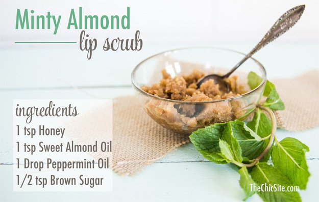 DIY Minty Almond Lip Scrub | Easy DIY Lip Scrub Makeup Tutorial