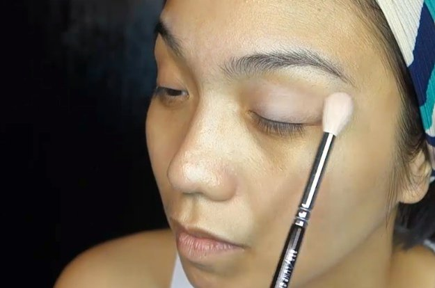 Step 3: Create a Velvety Base | Homecoming Makeup Tutorial For Brown Eyes Using Kylie Kyshadow Palette