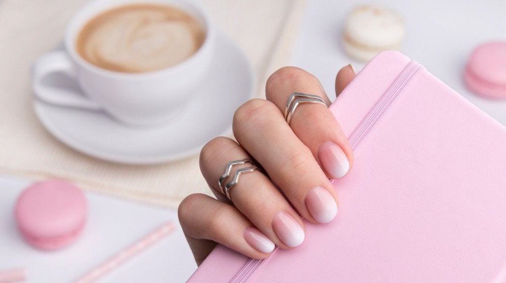 Beautiful Manicured Hand   Unique Pink Ombre Nails Rocked By Celebrities   pink ombre nails coffin   Featured
